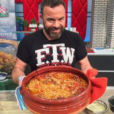 IMG-20171030-WA0001.... Cookbook Recipes, Dessert Recipes, Cooking Recipes, Desserts, Greek Dishes, Greek Recipes, Chili, Chicken Recipes, Recipies
