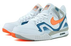 e72856b77b5c Find this Pin and more on Nike Tennis. Nike Air Tech Challenge II LE White    Tart - Clay Blue - Granite ...