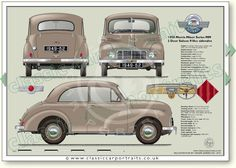 Morris Minor Series MM Lowlight 1949-50 classic car portrait print Classic Sports Cars, Classic Cars, Car Prints, Wooden Toy Cars, Vintage Cars, Auto Vintage, Retro Cars, Vintage Signs, Morris Minor