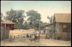 Vintage Postcard - Malay Dwelling House, Singapore