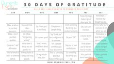 30 Days of Gratitude Social Media Pages, 30 Day, Self Care, Prompts, Gratitude, Positivity, In This Moment, Dance, Sayings