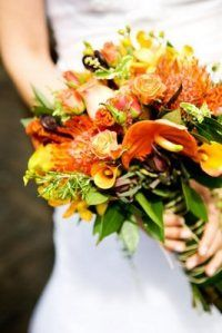 Brittany Flowers ™Studio design, Orange with lots of texture
