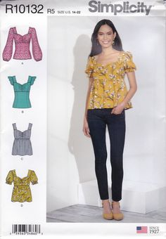 Simplicity Sewing Patterns, Capri Pants, Trending Outfits, Unique Jewelry, Clothes, Vintage, Etsy, Fashion, Outfits