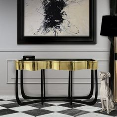 Sinuous Patina Console Table by Boca do Lobo   | Home furniture, designer furniture, inspirations ideas, exclusive furniture, design ideas, home decor ideas, interior design ideas. For more inspirations: http://www.bocadolobo.com/en/news-and-events/