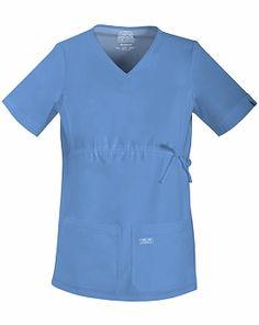maternity stretech scrubs WorkWear 4708 Core Stretch Maternity V-Neck Top Cherokee Maternity Scrubs, Maternity Tops, Core Stretches, Scrub Tops, V Neck Tops, Cherokee, Work Wear, Tunic Tops, Sleeves