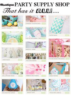 Boutique PARTY SUPPLY SHOP that has it ALL! www.KarasPartyIdeas.com/shop