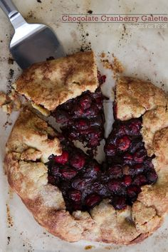 """Chocolate cranberry galette from A Thought for Food - Eat Your Books is an indexing website that helps you find & organize your recipes. Click the """"View Complete Recipe"""" link for the original recipe."""