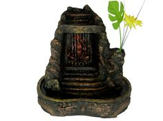 Buddha Statue with Color LED Lights Tabletop Indoor LED Water Fountain  $49.95