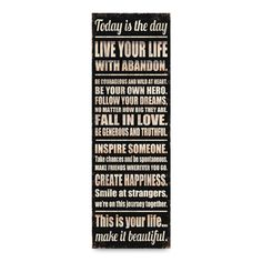 'Today is the Day' Wall Art - Bed Bath & Beyond