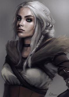 Character design inspired by Ciri from the witcher Catalena Fantasy Portraits, Character Portraits, Fantasy Artwork, Character Art, Female Character Concept, Dnd Characters, Fantasy Characters, Female Characters, Fantasy Women