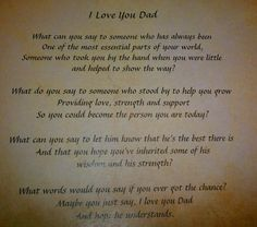 Poem For Dad | ... poem for the special Father in your life, each poem if you