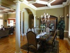 Grand dining room with plenty of room for entertaining