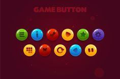 game button by shammballa on @creativemarket