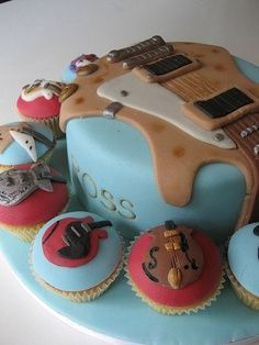 woah....that is cool....it's a cake with a guitar on it