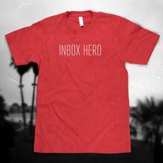 Inbox Hero, T-Shirt Based on Foreigner's Hit Single 'Juke Box Hero'