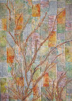 Textile artist Sandra Champion Button grass tussocks 21 Spotlight on Stitching and Beyond – Part Three