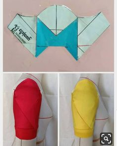 I just tried the Envelope sleeve posted by a few days ago. New Dress Pattern, Dress Sewing Patterns, Blouse Patterns, Clothing Patterns, Sewing Sleeves, Pattern Draping, Sleeves Designs For Dresses, Pola Lengan, Modelista