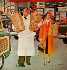 This painting was on the cover of the Saturday Evening Post in April 1956.