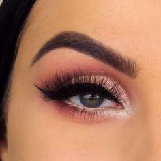 Lovely Eye Makeup For Girls Eye makeup Eye makeup tutorial Pink makeup Makeup Makeup videos Makeup tutorial - Lovely Eye Makeup For Girls - Rose Gold Makeup, Pink Makeup, Day Makeup, Girls Makeup, Makeup Inspo, Makeup Inspiration, Learn Makeup, Beauty Makeup, Makeup Eye Looks