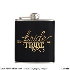 Gold Arrow Bride Tribe Flask