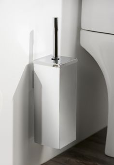 Super Sleek Mezzo Toilet Brush Holder Can Be Used Floor Standing Or Wall Mounted