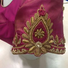 New Saree Blouse Designs, Simple Blouse Designs, Bridal Blouse Designs, Simple Designs, Peacock Embroidery Designs, Maggam Work Designs, Hand Work Blouse Design, Designer Blouse Patterns, Hand Designs