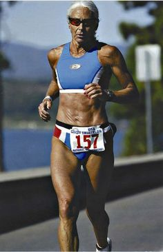 70-yr-old Ironman winner Jan Miller