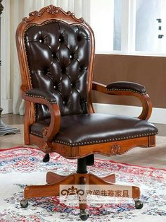 Tuscan Furniture, Victorian Furniture, Vintage Furniture, Traditional Home Offices, Vintage Writing Desk, Vintage Office Chair, Office Furniture Manufacturers, Living Room Sofa Design, Luxury Office