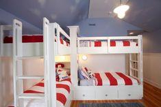 Kinderbetten fürs moderne Kinderzimmer hochbett streifen