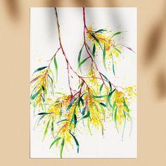 Watercolor Art Lessons, Watercolor Artwork, Watercolor And Ink, Watercolor Flowers, Australian Native Flowers, Australian Wildflowers, Australian Animals, Natalie Martin, Ink Illustrations