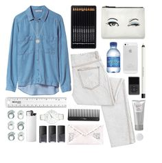 """""""Washed"""" by nandim ❤ liked on Polyvore featuring KEEP ME, Zara, McQ by Alexander McQueen, Sephora Collection, NARS Cosmetics, Kate Spade, shu uemura, Dogeared, Laura Mercier and Armani Exchange"""