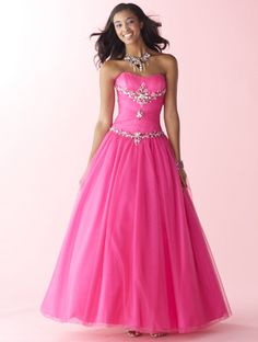 This prom dress looks good in the pink, but even better in the Ocean blue!