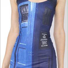 Black Milk Clothing Police Box Dress Bodycon
