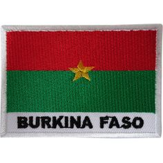 Burkina Faso Flag Patch Iron Sew On Africa Embroidered Badge Embroidery Applique