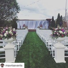 #Repost @mavrisevents with @repostapp. ・・・ Our first outdoor ceremony of the year was such a success! Tim and Kristen didn't miss one detail  congratulations!!!