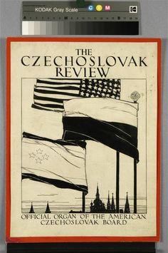 Vojtěch Preissig - návrh na obálku The Czechoslovak Review (1919) - kresba tuší, 33 x 25 cm Moving To Paris, Alphonse Mucha, Artwork, Artist, Pictures, Art Work, Work Of Art, Auguste Rodin Artwork, Amen