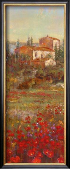 $69.99 Provencal Village V Posters 8x20 by Michael Longo at AllPosters.com with this frame-- WALL BY OVER MY BEDSIDE TABLE
