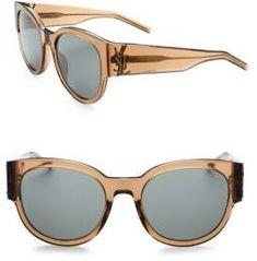 8e3ec09ee6 SAINT LAURENT Oversized Logo Sunglasses