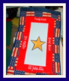 Personalized Gold Star Service Banners for families of our Fallen Hero's. All Gold Star Banners are Donated to the Immediate Family Member. Banners are donated as long as supplies are on hand. Star Banner, Immediate Family, Star Family, Gold Stars, Machine Embroidery Designs, Banners, Families, Hero, Create