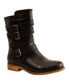 Love this Black Buckle Randy Boot by Mi.iM on #zulily! #zulilyfind only 1899