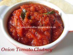 Priya's Virundhu....: Onion Tomato Chutney [Side dish for idlis, dosas, ...