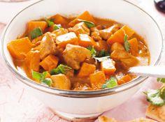 Recept voor aromatische curry met kip en flespompoen