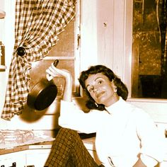 Ruth Graham in her kitchen #DailySnapshot #gingham #July6