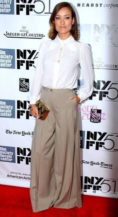 Olivia Wilde in palazzo pants- amahhzing