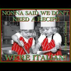 We start them early in the kitchen and in fashion, so they know what matters the most in life: good food and looking good anytime.  Valentina Cirasola - Google+