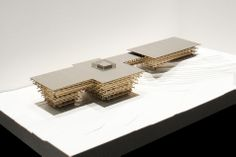 renowned japanese architect kengo kuma has presented designs for 'yunnan sales center', a mixed-use complex to be built in yunnan, a province in southwestern china. Architecture Model Making, Wood Architecture, Chinese Architecture, Futuristic Architecture, Concept Architecture, Kengo Kuma, Structural Model, Museum Exhibition Design, Sales Center