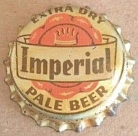 Imperial Extra Dry Pale Beer, bottle cap | Southern Brewing Co., Los Angeles, California USA | Period used 1955-1958
