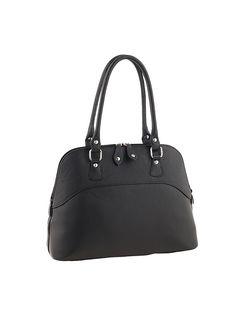 Leder-Schultertasche in Schwarz - (B)37 x (H)28 x (T)15 cm. Handtasche von Florence Bags - aus hochwertigem Rindsleder - mit 2-Wege-Reißverschluss - 2 Tragehenkel - Hauptfach durch Reißverschlusstasche geteilt - 1 kleines Reißverschluss- und Steckfach innen Farbe: schwarz