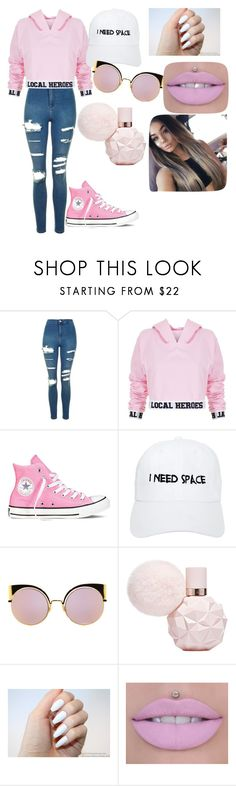 """Pinky pinky"" by keasu ❤ liked on Polyvore featuring Topshop, Local Heroes, Converse, Nasaseasons and Fendi"