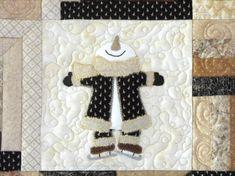 Free Applique Quilt Patterns | Crazy Creek Creations: Snowman Applique Quilt